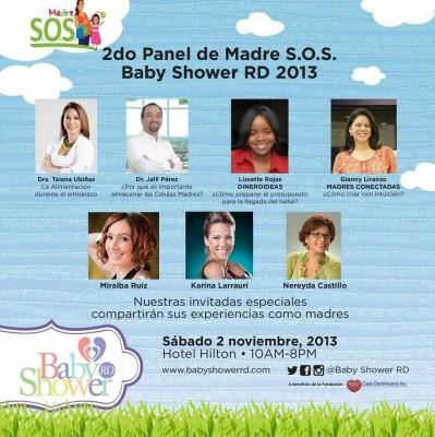Compartiendo panel con figuras reconocidas del medio nacional en Baby Shower RD.